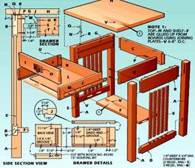 tekeningen van steigerhout meubels