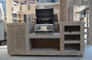 Buitenkeuken steigerhout freds bouwtekeningen for Foto op hout maken eigen huis en tuin